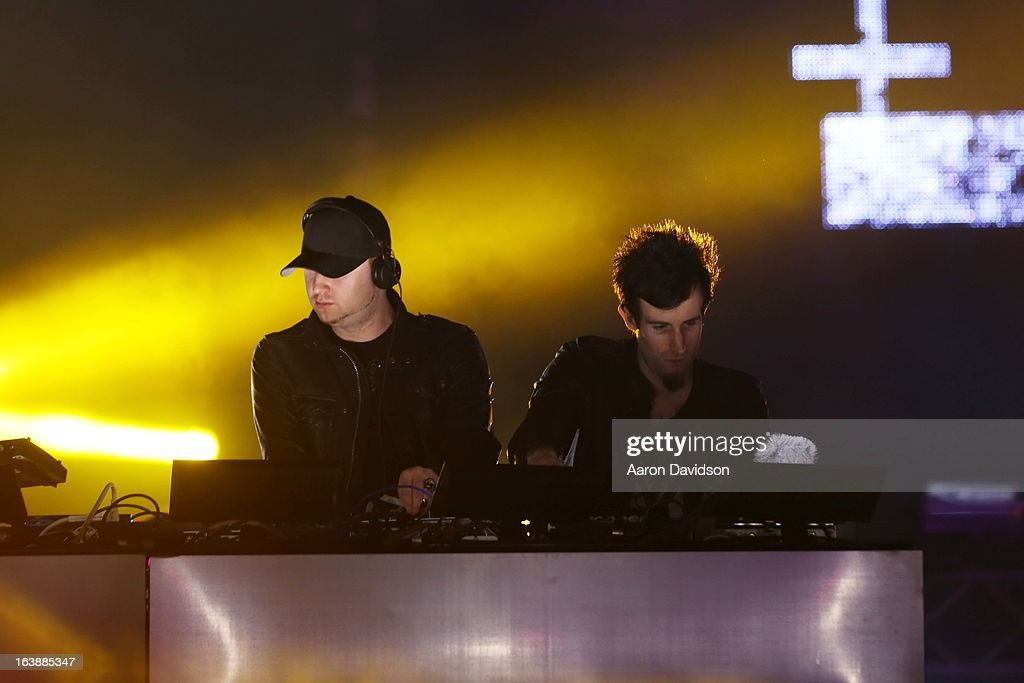 Knife Party Performs at Ultra Music Festival - Weekend 1 at Bayfront Park Amphitheater on March 16, 2013 in Miami, Florida.
