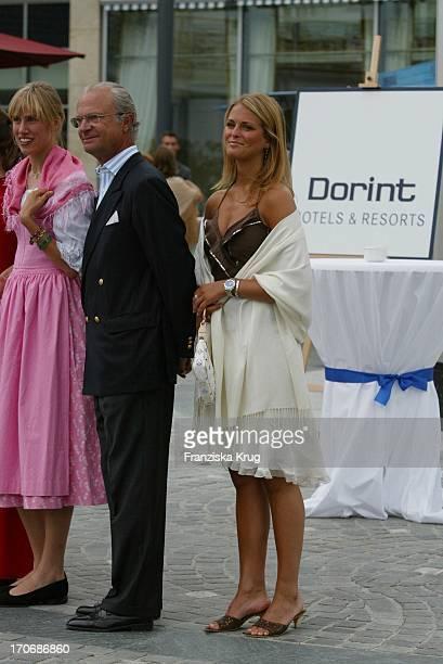 König Carl Gustaf Von Schweden Und Prinzessin Madeleine Von Schweden Beim Empfang Zum 60 Geburtstag Von Leopold V Bayern Im Dorint Seehotel Rottach...