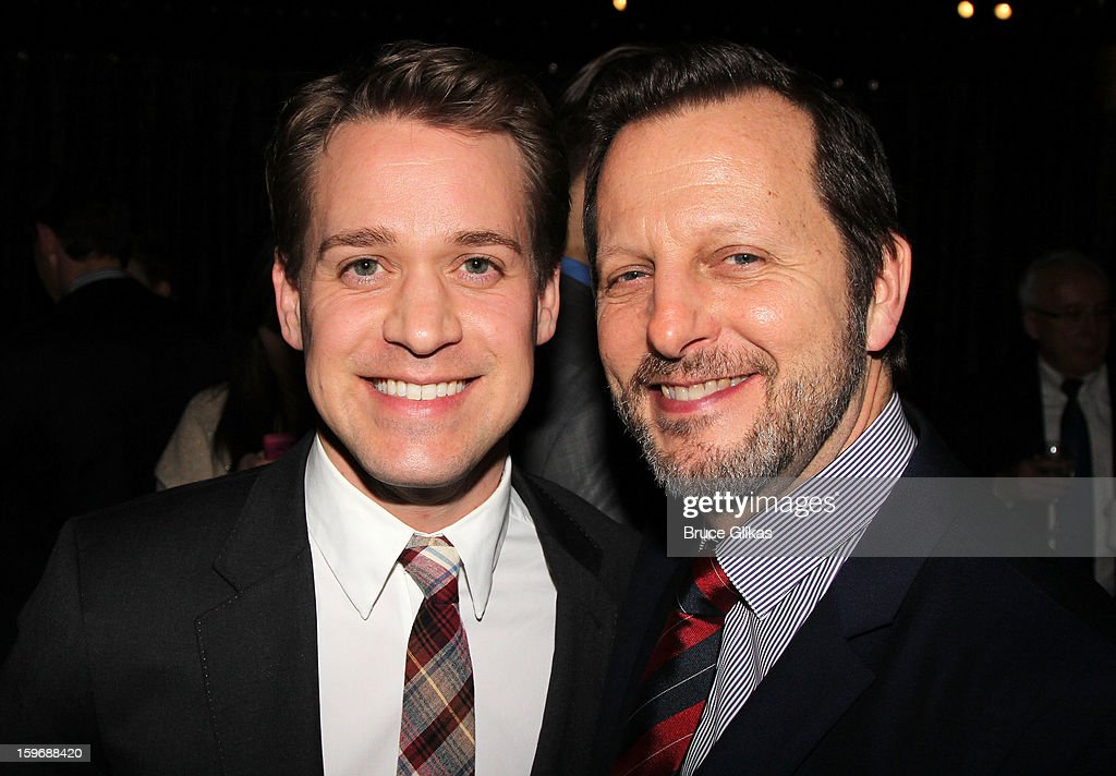 T.R. Knight and Rob Ashford pose at the after party on opening night of 'Cat On A Hot Tin Roof' on Broadway at Chelsea Piers Lighthouse Pier 60 on January 17, 2013 in New York City.