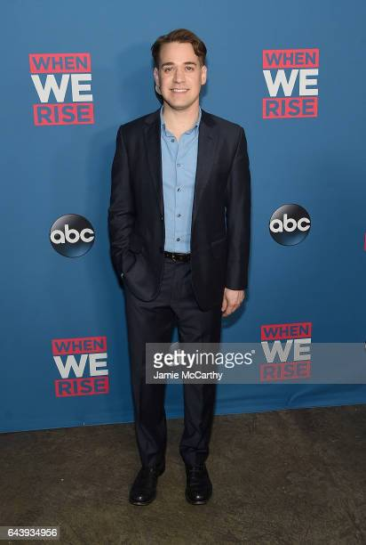 R Knight attends the 'When We Rise' New York Screening Event at The Metrograph on February 22 2017 in New York City