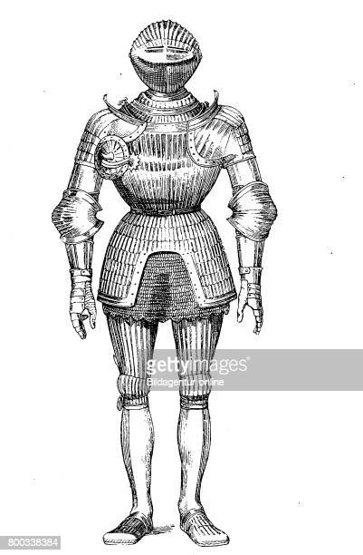 Knight complete Plate armour in the year 1500 History of fashion costume story