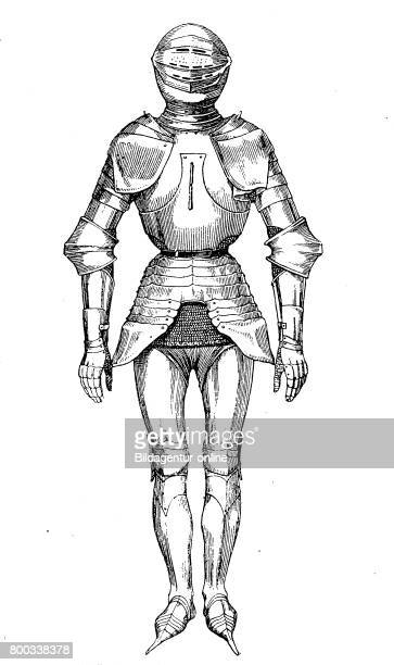 Knight complete Plate armour with Crakows or crackowes were a style of shoes with extremely long toes very popular in the 15th century 15 century...