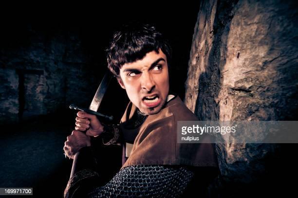 knight verteidigen die Festung