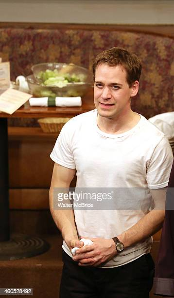 R Knight during the Opening Night Curtain Call for 'Pocatello' at Playwrights Horizons on December 15 2014 in New York City