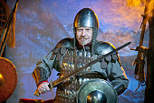 Medieval knight in iron armor