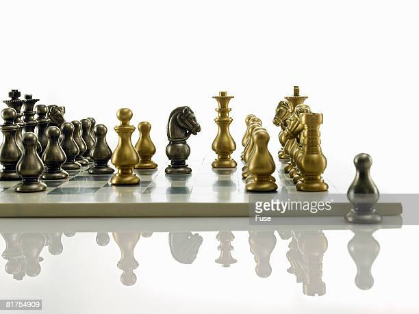 Knight on a Chess Board Behind Enemy Lines