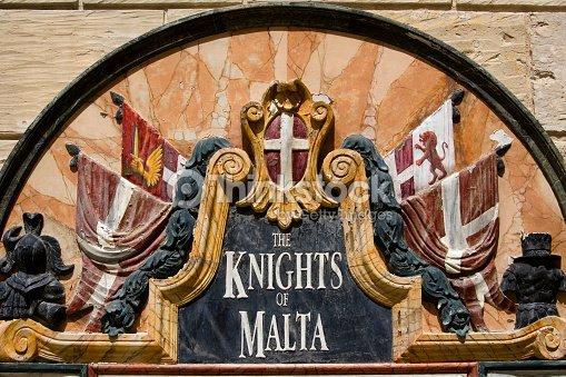 Knights Of Malta Wall Plaque In Mdina Malta Stock Photo Thinkstock