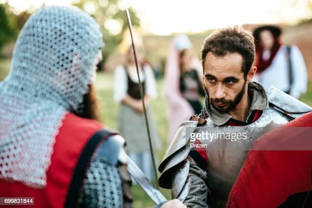 Ritter Schwert kämpfen um den Thron