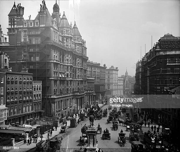 Knightsbridge London c1882c1904 The main building on the left is the Hyde Park Hotel at No 66 Built in 1882 by Archer and Green it was originally an...