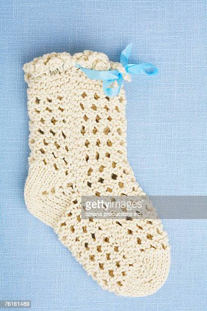 Knitted baby sock