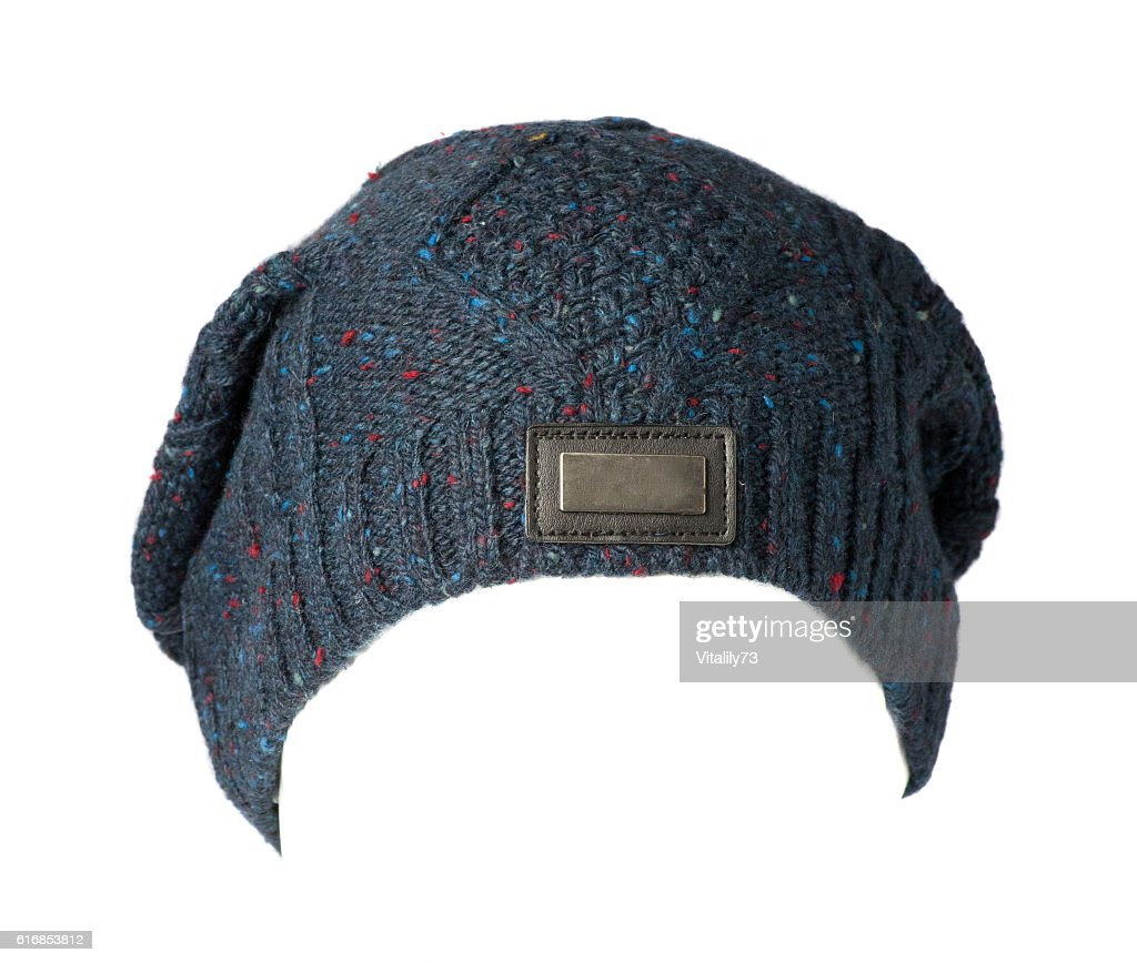 knitted hat isolated on white background : Stock Photo