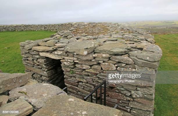 Knockdrum Iron Age stone fort perimeter defensive walls near Castletownshend County Cork Ireland Irish Republic