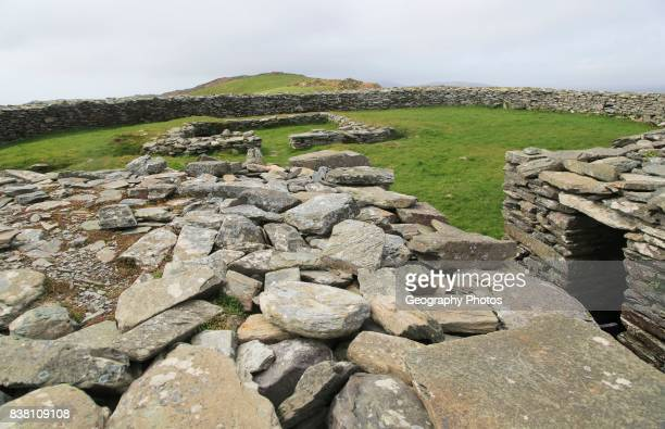 Knockdrum Iron Age stone fort perimeter defensive walls near Castletownshend County Cork Ireland Irish Republic