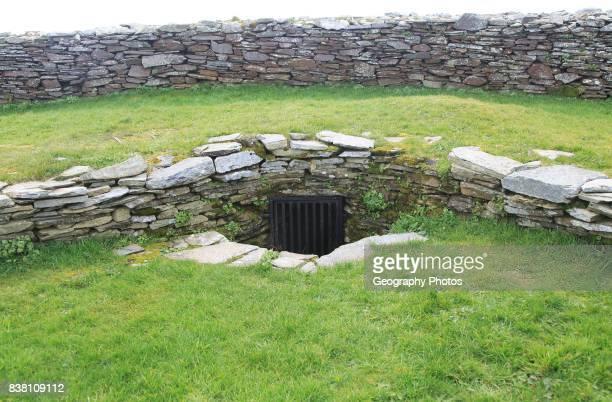 Knockdrum Iron Age stone fort souterrain entrance near Castletownshend County Cork Ireland Irish Republic