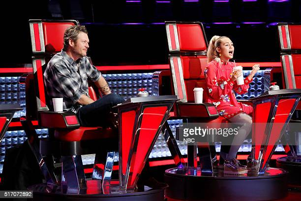 THE VOICE 'Knockout Reality' Pictured Blake Shelton Miley Cyrus