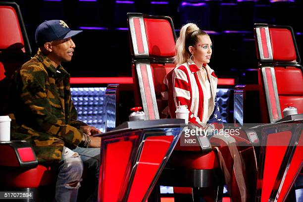 THE VOICE 'Knockout Reality' Pictured Pharrell Williams Miley Cyrus