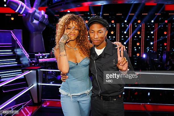 THE VOICE 'Knockout Reality' Pictured Rihanna Pharrell Williams
