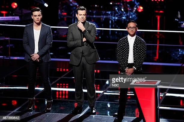 THE VOICE 'Knockout Rounds' Episode 809 Pictured Clinton Washington Carson Daly Nathan Hermida