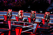 THE VOICE 'Knockout Rounds' Pictured Adam Levine Gwen Stefani Pharrell Williams Blake Shelton