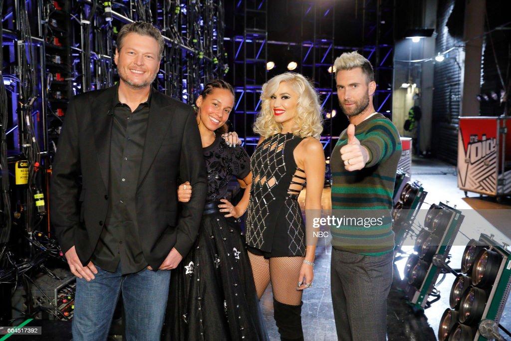 THE VOICE -- 'Knockout Rounds' -- Pictured: (l-r) Blake Shelton, Alicia Keys, Gwen Stefani, Adam Levine --