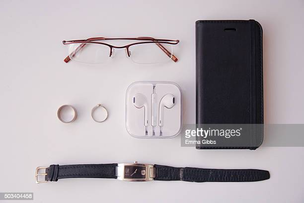 Knolling: Businesswoman's possessions