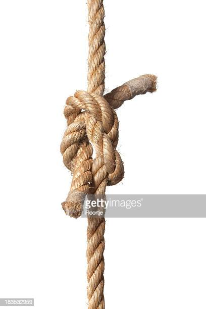 Knotted rope on a white background
