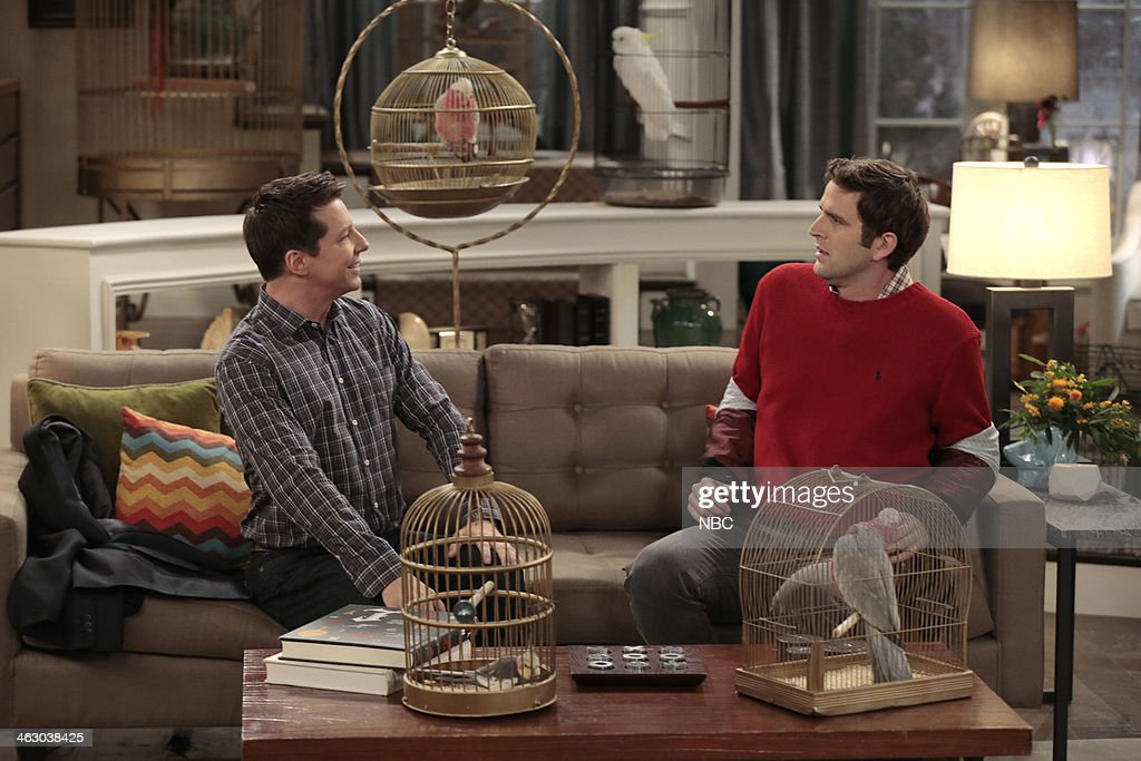 WORLD -- 'I Know Why the Caged Bird Zings' Episode 113 -- Pictured: (l-r) <a gi-track='captionPersonalityLinkClicked' href=/galleries/search?phrase=Sean+Hayes&family=editorial&specificpeople=204240 ng-click='$event.stopPropagation()'>Sean Hayes</a> as Sean, Humphrey Ker as Colin --