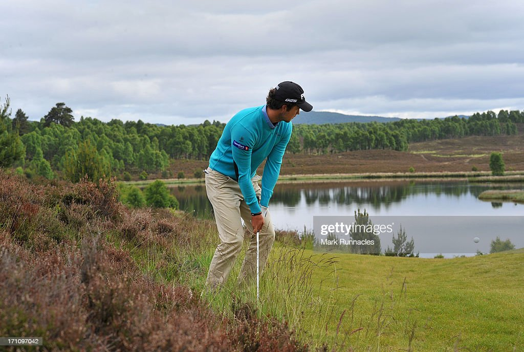 Knut Borsheim of Norway plays a chip shot to the 6th green during the Third Round of the Scottish Hydro Challenge hosted by MacDonald Hotels & Resorts on June 22, 2013 in Aviemore, Scotland.