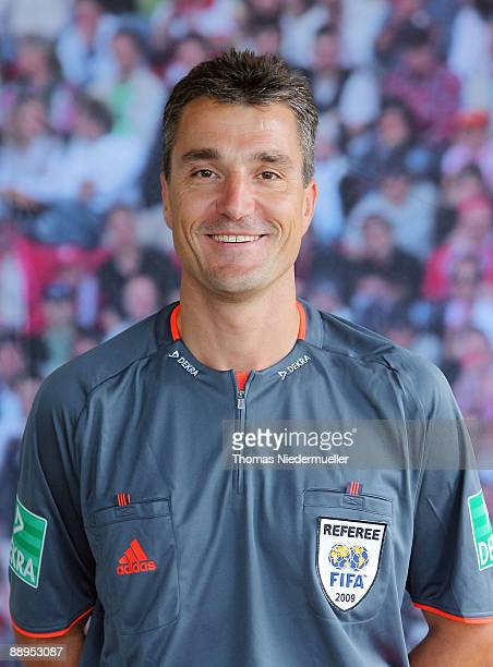 Knut Kircher poses during the German Football Association referee meeting on July 9 2009 in Altensteig Germany