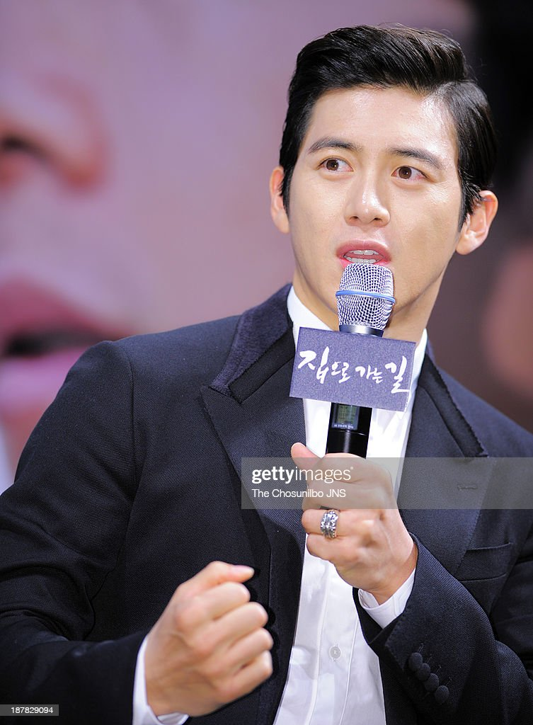 Ko Soo attends the 'The Way Home' press conference at Apgujeong CGV on November 12, 2013 in Seoul, South Korea.