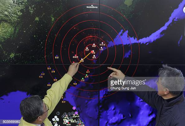 Ko Yunhwa The Korea Meteorological Administration Administrator and Yun WonTae a Earthquake and Volcano of the Korea Meteorological Administration...