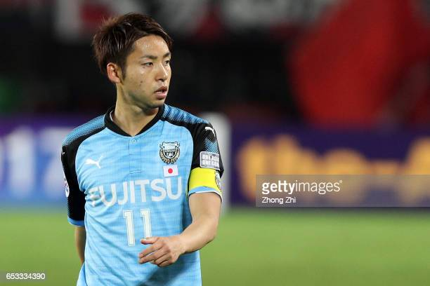 Kobayashi Yu of Kawasaki Frontale looks on during 2017 AFC Asian Champions League group match between Guangzhou Evergrande Taobao FC and Kawasaki...