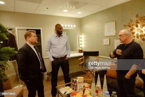 Kobe Bryant and Glen Keane chat in the green room with James Corden during 'The Late Late Show with James Corden' Wednesday December 6 2017 On The...