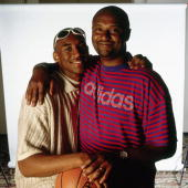 Kobe Bryant and his father pose for a portrait NOTE TO USER User expressly acknowledges and agrees that by downloading and/or using this Photograph...