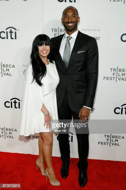 Kobe Bryant and Vanessa Bryant attend Tribeca Talks during the 2017 Tribeca Film Festival at Borough of Manhattan Community College on April 23 2017...