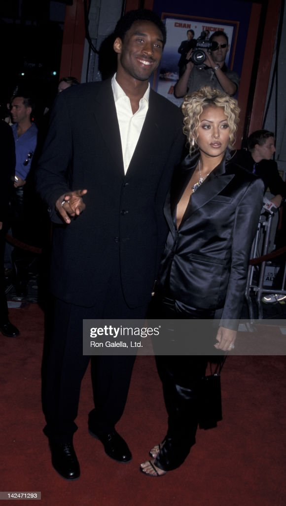 Kobe Bryant and wife Vanessa Bryant attend the world premiere of 'Rush Hour 2' on July 26 2001 at Mann Chinese Theater in Hollywood California