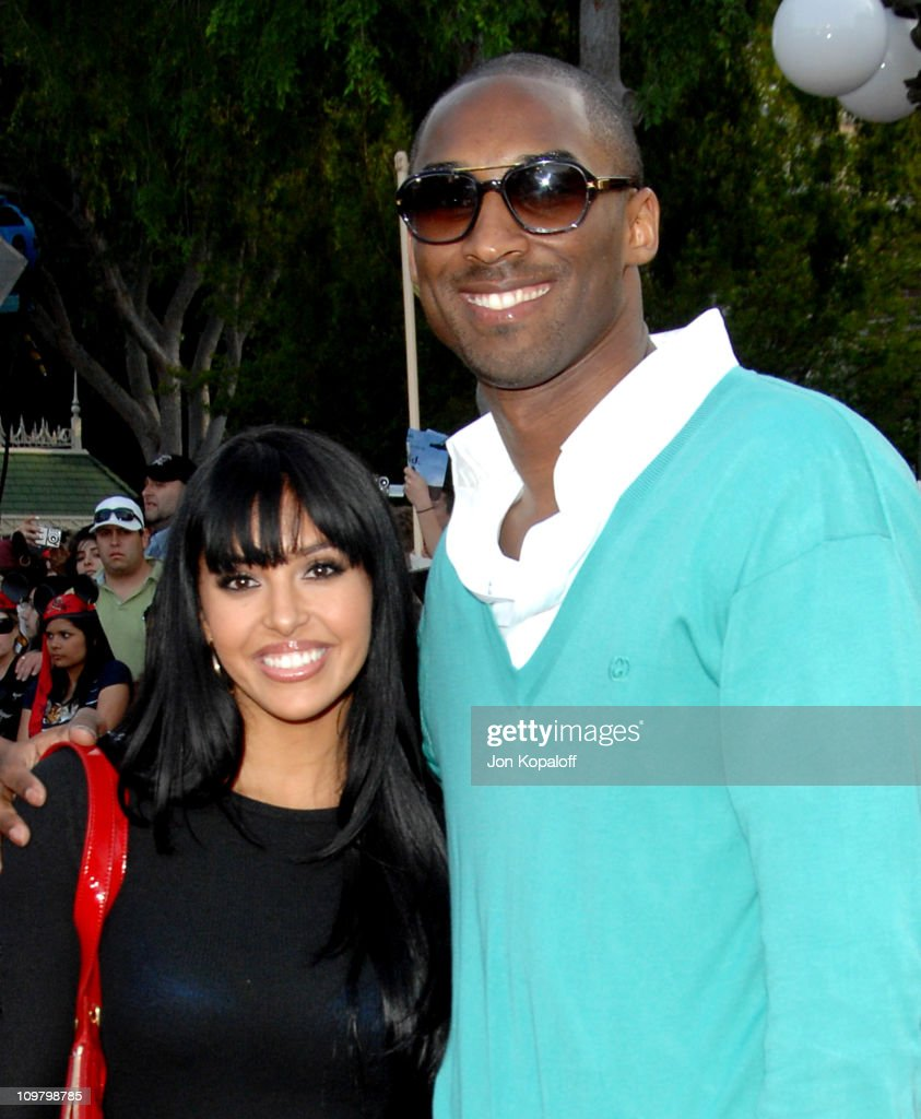 Kobe Bryant and wife Vanessa Bryant during 'Pirates of the Caribbean At World's End' World Premiere Arrivals at Disneyland in Anaheim California...