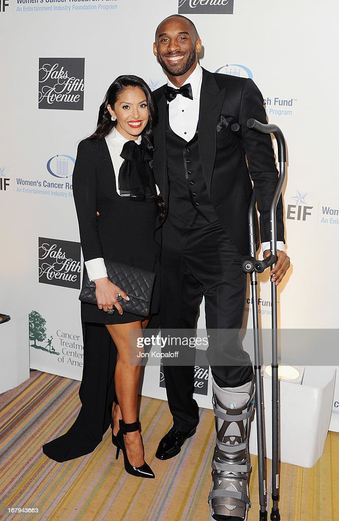 <a gi-track='captionPersonalityLinkClicked' href=/galleries/search?phrase=Kobe+Bryant&family=editorial&specificpeople=201466 ng-click='$event.stopPropagation()'>Kobe Bryant</a> and wife Vanessa Laine arrive at An Unforgettable Evening benefiting EIF's Women's Cancer Research Fund at the Beverly Wilshire Four Seasons Hotel on May 2, 2013 in Beverly Hills, California.