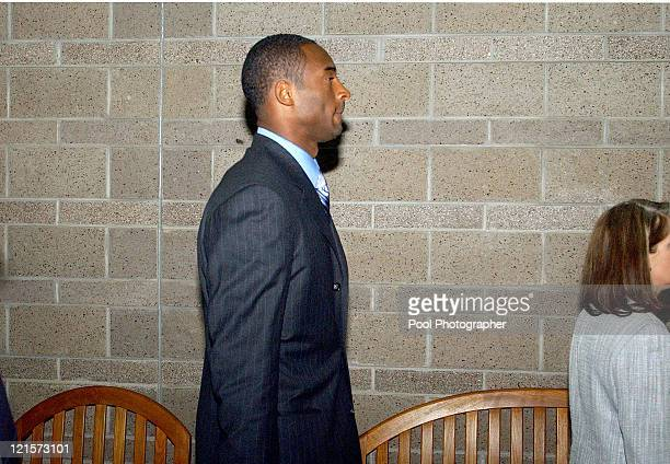 Kobe Bryant arrives at Eagle County Courthouse in Eagle CO on August 30 2004