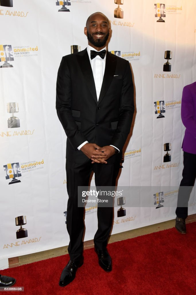Kobe Bryant attends the 44th Annual Annie Awards at Royce Hall on February 4, 2017 in Los Angeles, California.