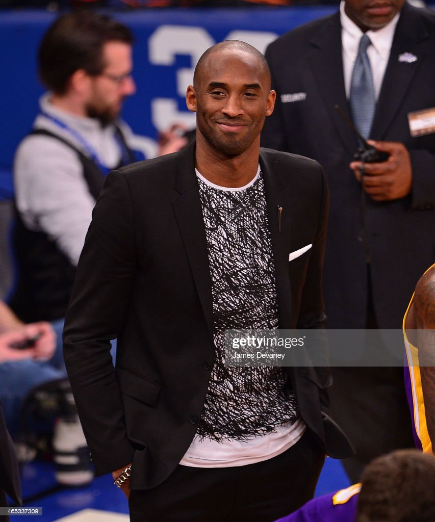 <a gi-track='captionPersonalityLinkClicked' href=/galleries/search?phrase=Kobe+Bryant&family=editorial&specificpeople=201466 ng-click='$event.stopPropagation()'>Kobe Bryant</a> attends the Los Angeles Lakers vs New York Knicks game at Madison Square Garden on January 26, 2014 in New York City.