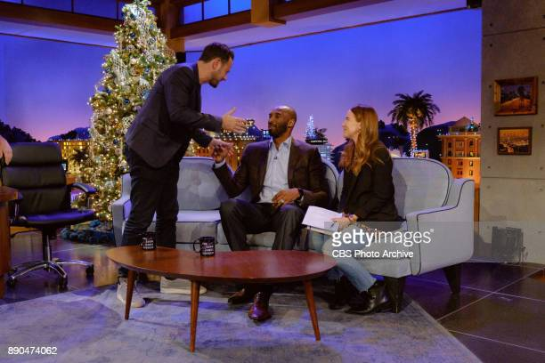 Kobe Bryant chats with Ben Winston and Kate Presutti during 'The Late Late Show with James Corden' Wednesday December 6 2017 On The CBS Television...