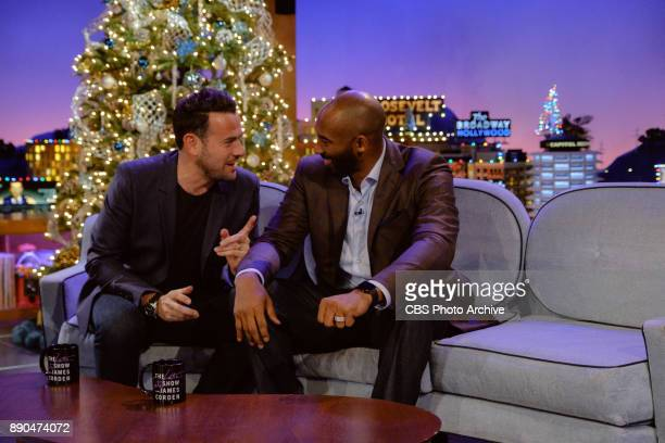 Kobe Bryant chats with Ben Winston during 'The Late Late Show with James Corden' Wednesday December 6 2017 On The CBS Television Network