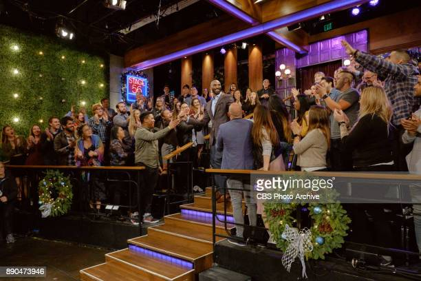 Kobe Bryant greets the audience during 'The Late Late Show with James Corden' Wednesday December 6 2017 On The CBS Television Network