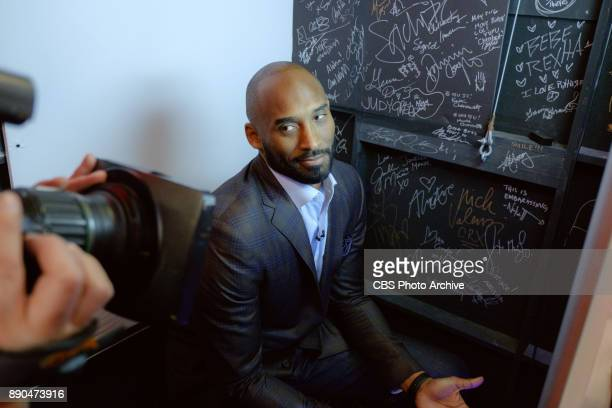 Kobe Bryant in the photo booth during 'The Late Late Show with James Corden' Wednesday December 6 2017 On The CBS Television Network