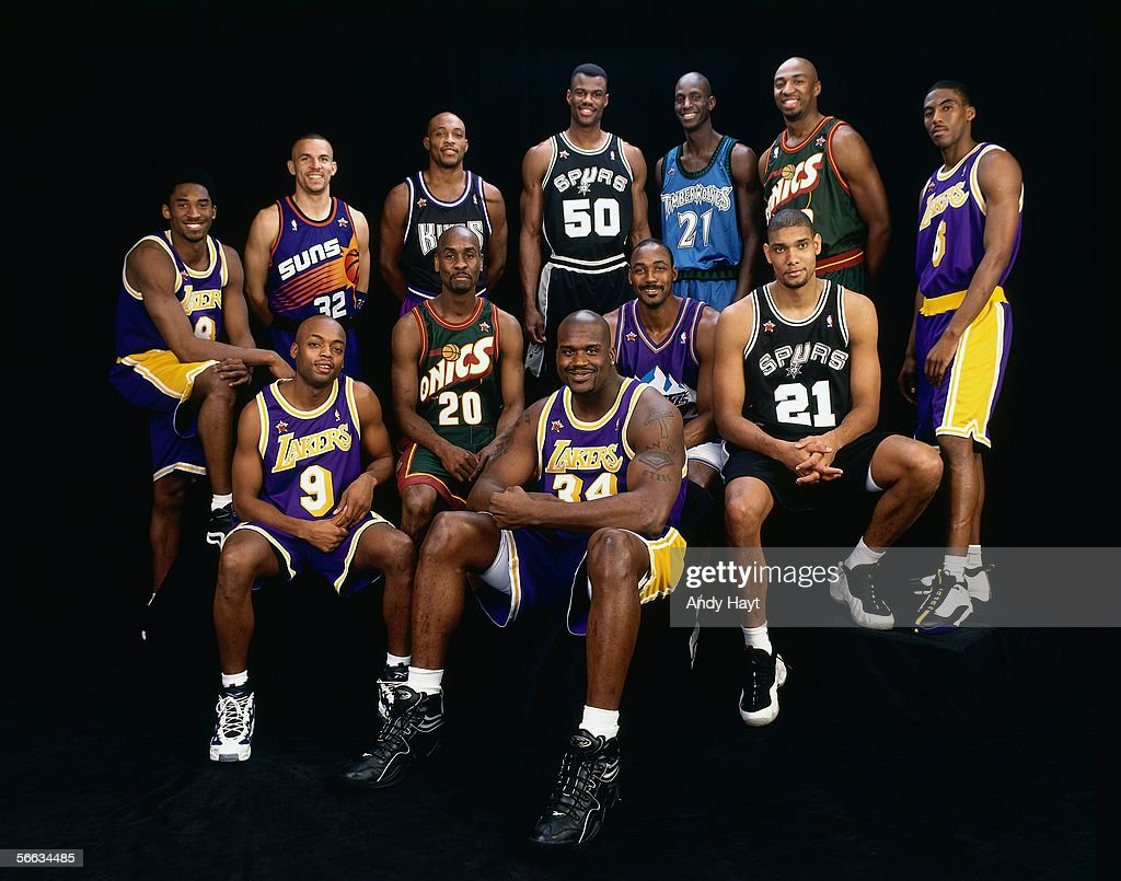1998 NBA All Star Game Western Conference Team Portrait