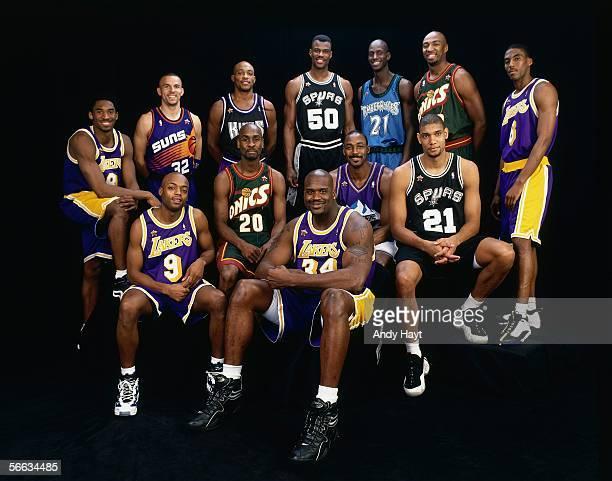 Kobe Bryant Jason Kidd Mitch Richmond David Robinson Kevin Garnett Vin Baker Eddie Jones Nick Van Exel Gary Payton Shaquille O'Neal Karl Malone and...