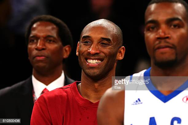 Kobe Bryant of the Los Angeles Lakers and the Western Conference looks on after defeating the Eastern Conference during the NBA AllStar Game 2016 at...