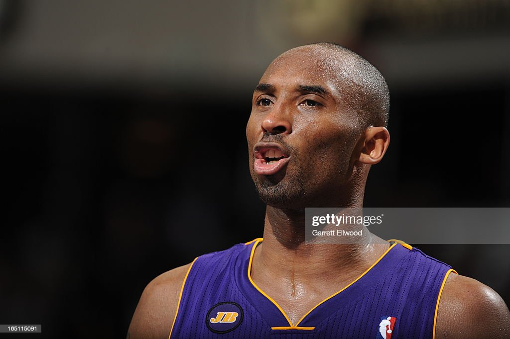 <a gi-track='captionPersonalityLinkClicked' href=/galleries/search?phrase=Kobe+Bryant&family=editorial&specificpeople=201466 ng-click='$event.stopPropagation()'>Kobe Bryant</a> #24 of the Los Angeles Lakers calls out the play against the Sacramento Kings on March 30, 2013 at Sleep Train Arena in Sacramento, California.