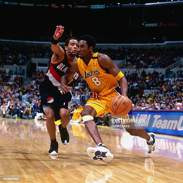 Blazers Vs Lakers: Damon Stoudamire Stock Photos And Pictures